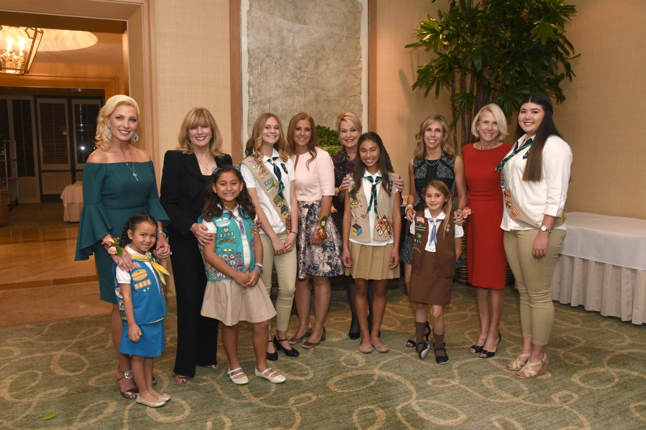 2017 Celebrate Leadership Honorees with their Girl Scout partners from left to right: Julie Ann Ulcickas & Melina Mayo, Cynthia Stamper Graff & Kaekoa Corona, Dr. Jane L. Kakkis & Trinity Brewer, Robin Follman-Otta & Jillian Raymer, Kerri Sonenshine & Isabella Sidoni, Susan B. Parks & Lauren Best